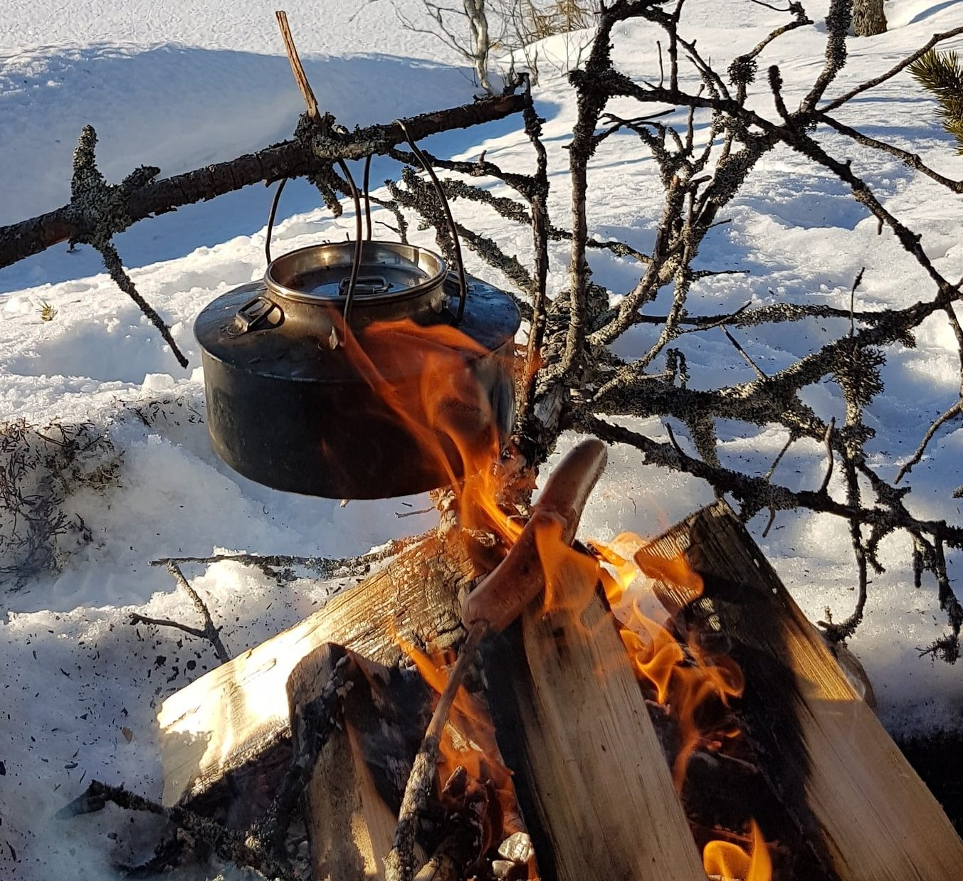 How to have coffee while camping