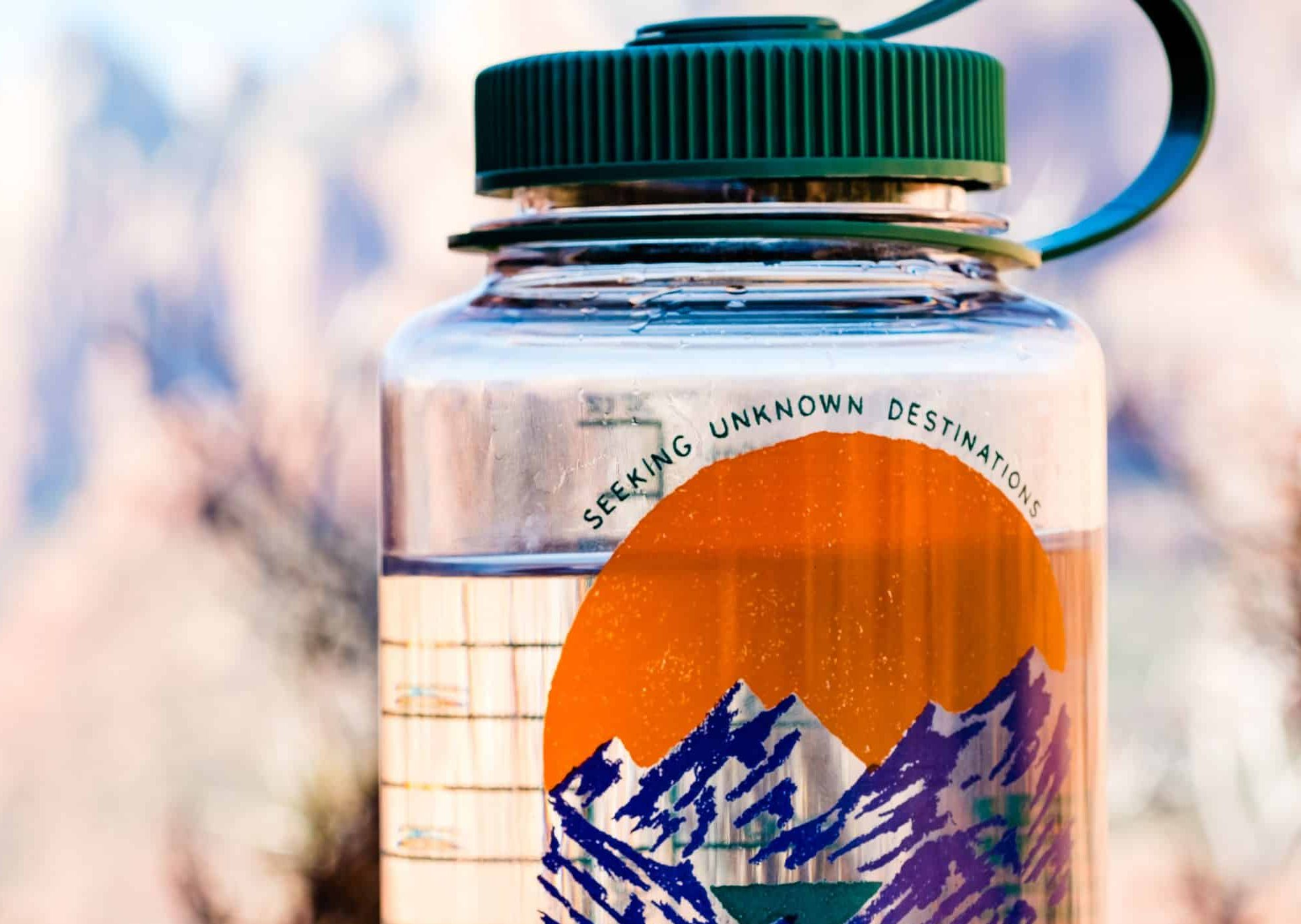 How to clean a camping water jug